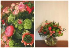 Bouquet de pivoines, viburnum et renoncules ©Gali M Livraison de fleurs à Toulouse