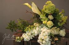 Tout en vert et blanc, tout en élégance. ©Gali M Livraison de fleurs à Toulouse